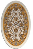 rug #1305527 | oval white borders rug