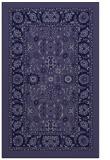 rug #1305615 |  blue-violet damask rug