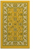 rug #1305851 |  yellow damask rug