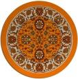 rug #1305899 | round orange damask rug