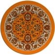 rug #1305899 | round orange borders rug