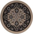 rug #1305911 | round beige damask rug