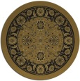 rug #1305919 | round mid-brown traditional rug