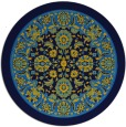 rug #1305931 | round blue natural rug