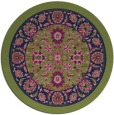 rug #1305943   round blue traditional rug