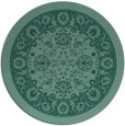rug #1305955 | round blue-green borders rug