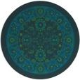 rug #1305963 | round blue natural rug