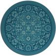 rug #1305967 | round blue-green borders rug