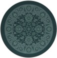 rug #1305971   round blue-green borders rug