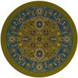 rug #1305975 | round blue-green borders rug