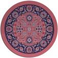 rug #1305991 | round pink damask rug