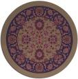 rug #1306003 | round beige damask rug