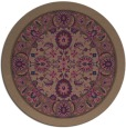 rug #1306005 | round damask rug