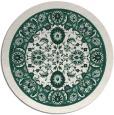 rug #1306035 | round blue-green borders rug