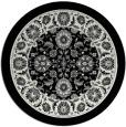 rug #1306047 | round black natural rug