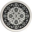 rug #1306048 | round damask rug