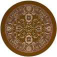 rug #1306051 | round mid-brown traditional rug