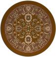rug #1306051 | round mid-brown damask rug