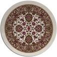 rug #1306059 | round beige damask rug