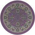 rug #1306087 | round purple damask rug