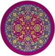 rug #1306101 | round damask rug
