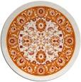 rug #1306115 | round orange traditional rug