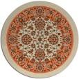 rug #1306119 | round beige borders rug