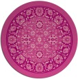 rug #1306127 | round pink traditional rug