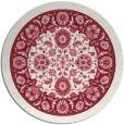 rug #1306131 | round pink damask rug