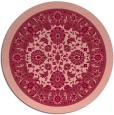 rug #1306135 | round pink traditional rug