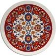 rug #1306159 | round red borders rug