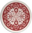 rug #1306167   round red damask rug