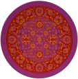 rug #1306171   round red damask rug