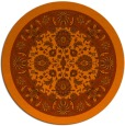 rug #1306175 | round red-orange damask rug
