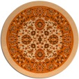 rug #1306179 | round red-orange natural rug