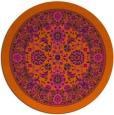 rug #1306183 | round red-orange borders rug