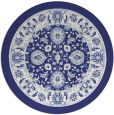 rug #1306199   round blue traditional rug