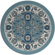 rug #1306211   round white traditional rug