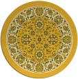 rug #1306219 | round yellow damask rug