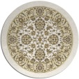 rug #1306223 | round yellow traditional rug