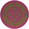 rug #1306247 | round pink borders rug