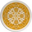 rug #1306255 | round light-orange damask rug