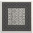 rug #1306639 | square black rug