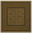 rug #1306655 | square mid-brown borders rug