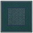 rug #1306675 | square blue-green borders rug