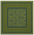 rug #1306679 | square green traditional rug