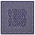 rug #1306723 | square blue-violet damask rug