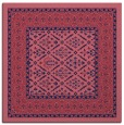 rug #1306727 | square blue-violet damask rug