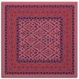 rug #1306727 | square blue-violet borders rug