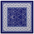 rug #1306735 | square blue-violet damask rug